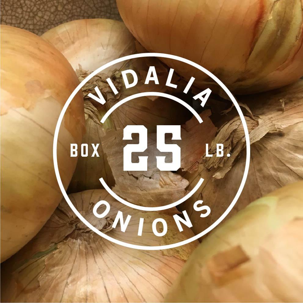 25 lb box of vidalia onions