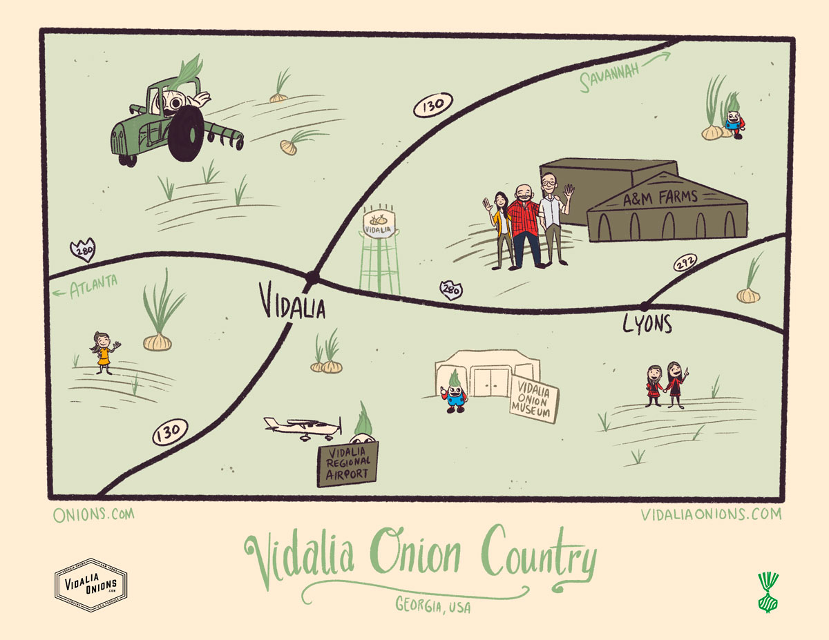 Vidalia Onion Country map