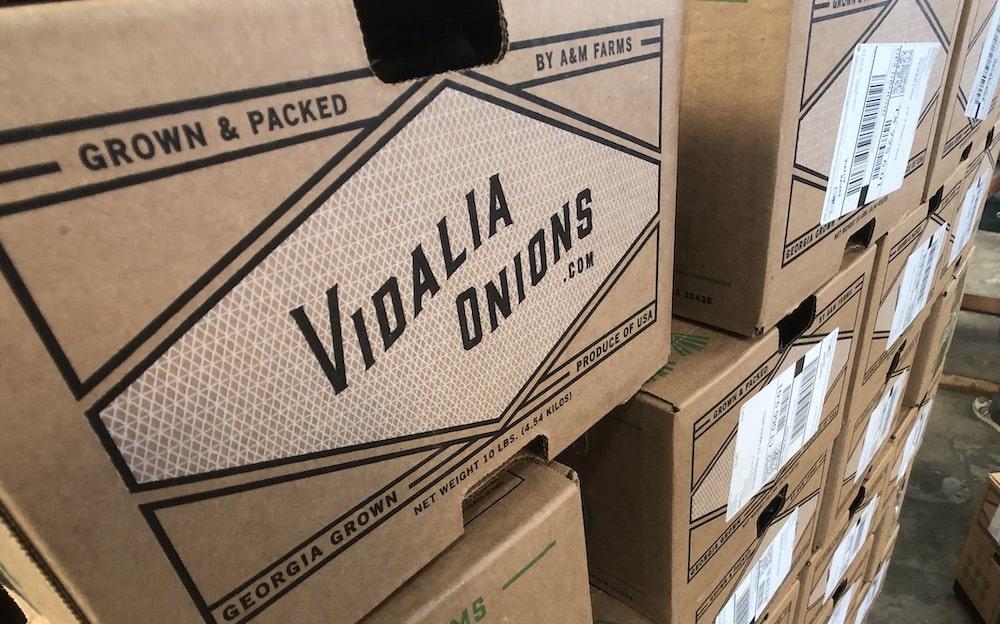 Vidalia Onions Shipping Boxes
