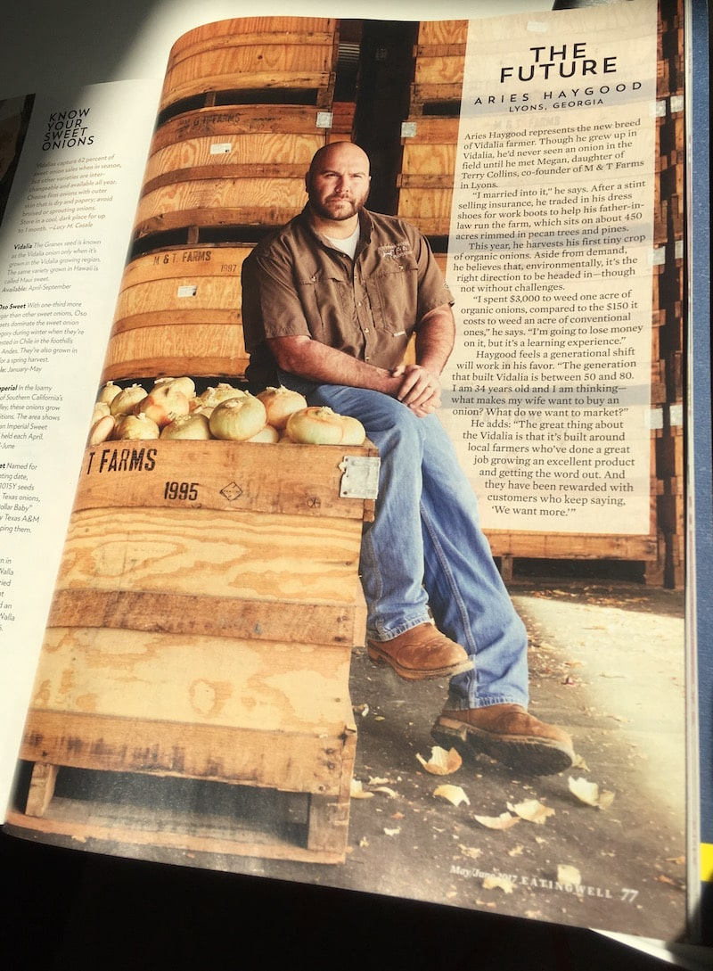 Aries Haygood featured in Eating Well magazine