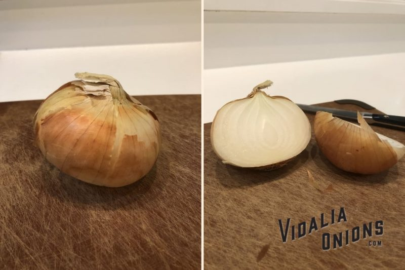 Vidalia Onion Cut in Half