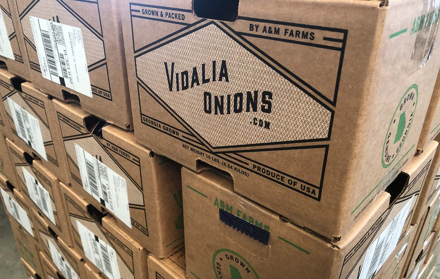 Vidalia Onion Shipping Boxes